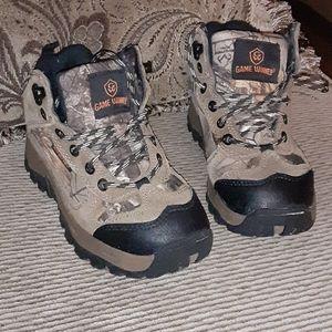 Boys Camo Hiking Boots